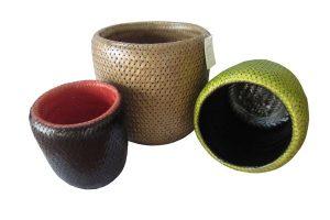 Double weaving layers basket
